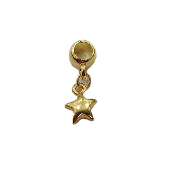 Berloque Dourado  Estrela BED048