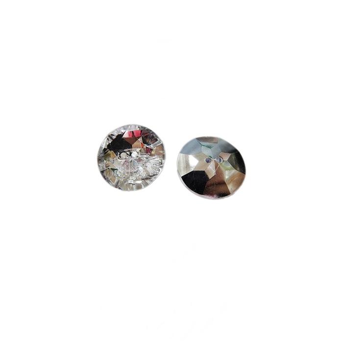 Botão de acrílico espelhado redondo P (10 unid.)- BOE001