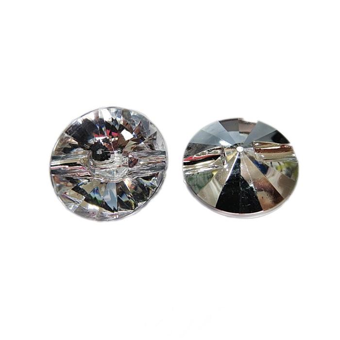 Botão de acrílico espelhado redondo passante G (05 unid.)  BOE003