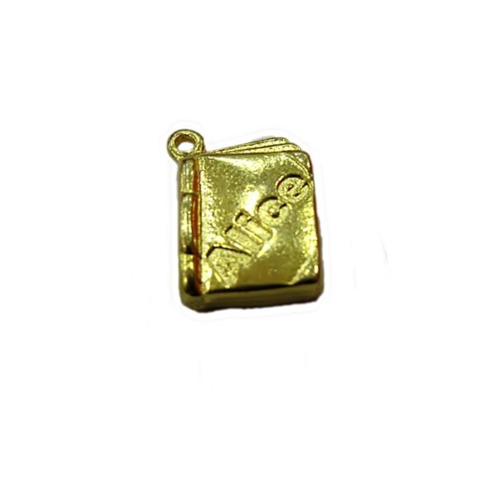 Pingente Livro dourado da Alice- PTD059