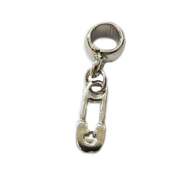 Berloque níquel pingente alfinete de segurança de fralda- BEN381