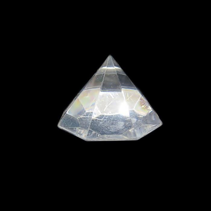 Pingente de acrilico diamante achatado transparente- PAC014