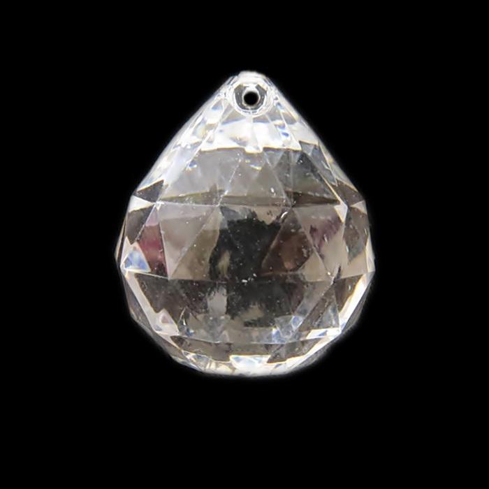 Pingente de acrilico esfera G transparente- PAC015