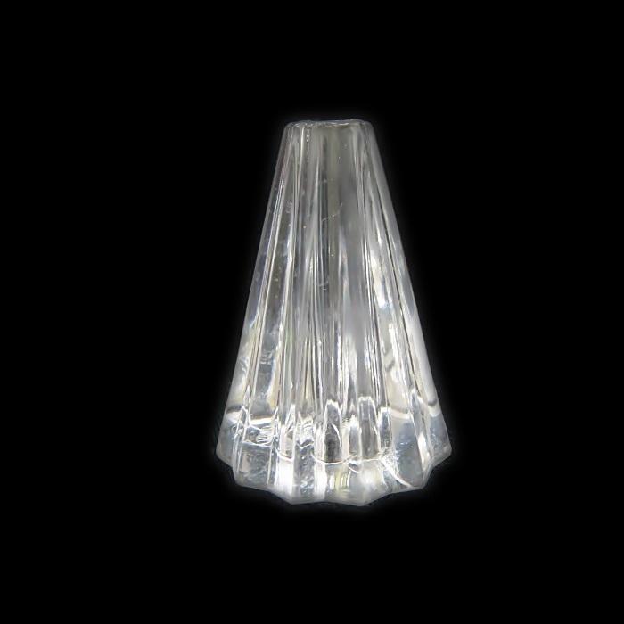 Passante de acrilico cone facetado transparente- PCA001