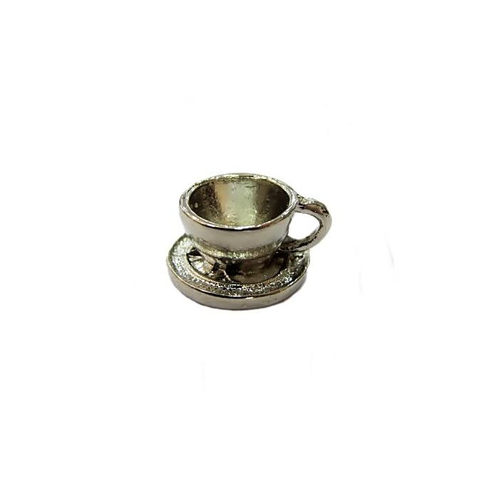 Pingente Xícara níquel- PTN022