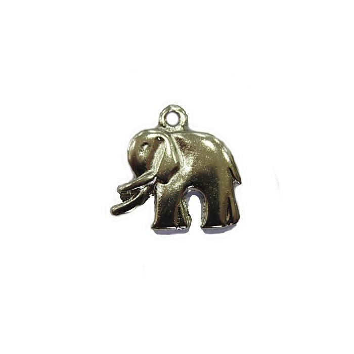 Pingente Elefante médio níquel (10 unidades)- PTN034