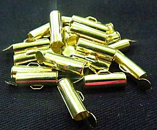 terminal de trilho dourado-1,3 cm-20 peças-tcd030