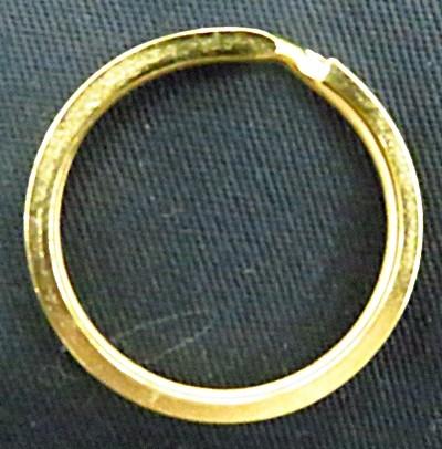 Argola de chaveiro dourado-3,5 cm-05 peças-ard010