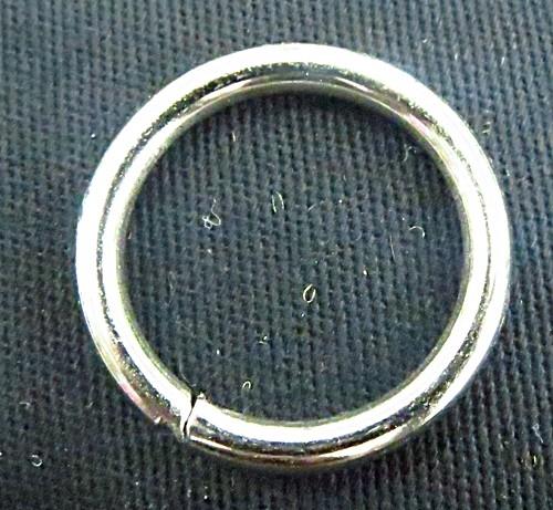 Argola de metal  niquel aberta-3,1 cm-10 peças-A011