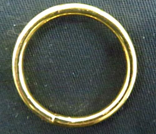 Argola de metal dourada aberta-3,2 cm-10 peças-AD010
