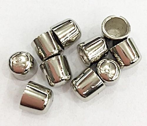 Ponteira niquel Redonda P-10 peças-PCN012