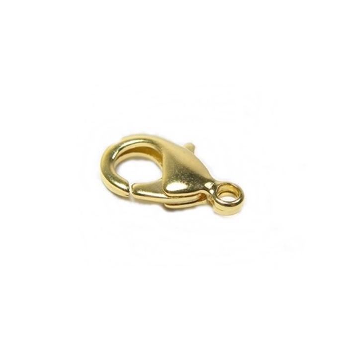 Fecho Lagosta Dourado Latão Nº 01 (10 Unid.)- FLD001