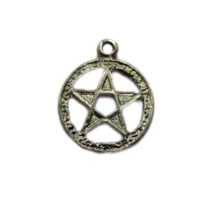 Pingente Estrela de Davi circulo grafite (10 unidades)- PTN088