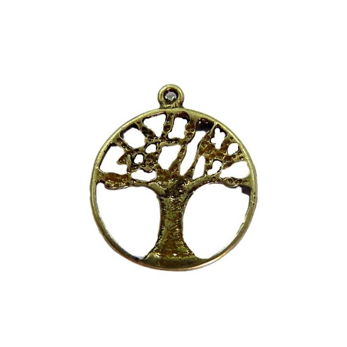 Pingente Árvore II ouro velho- PTO042