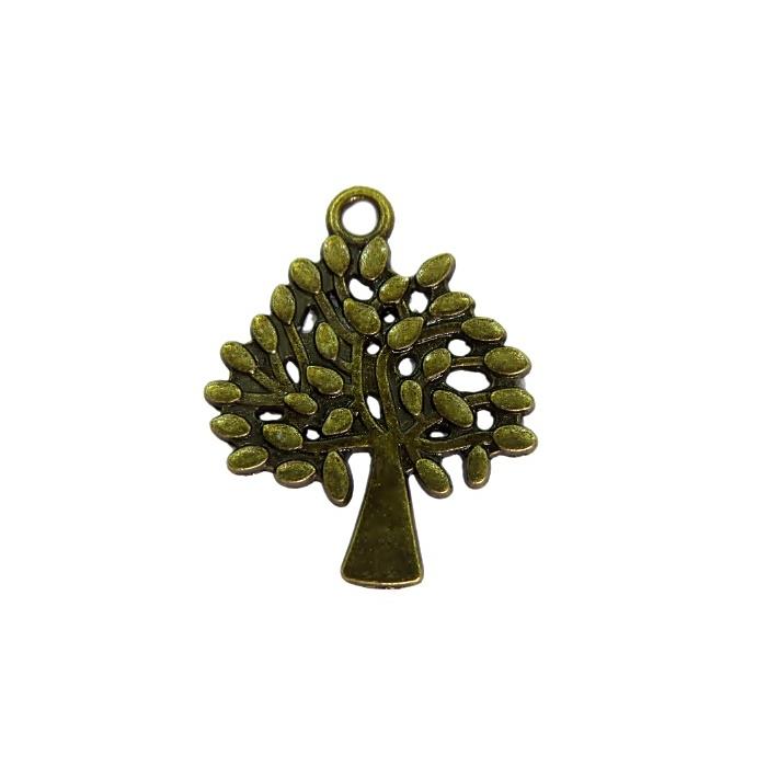 Pingente Árvore III ouro velho- PTO046