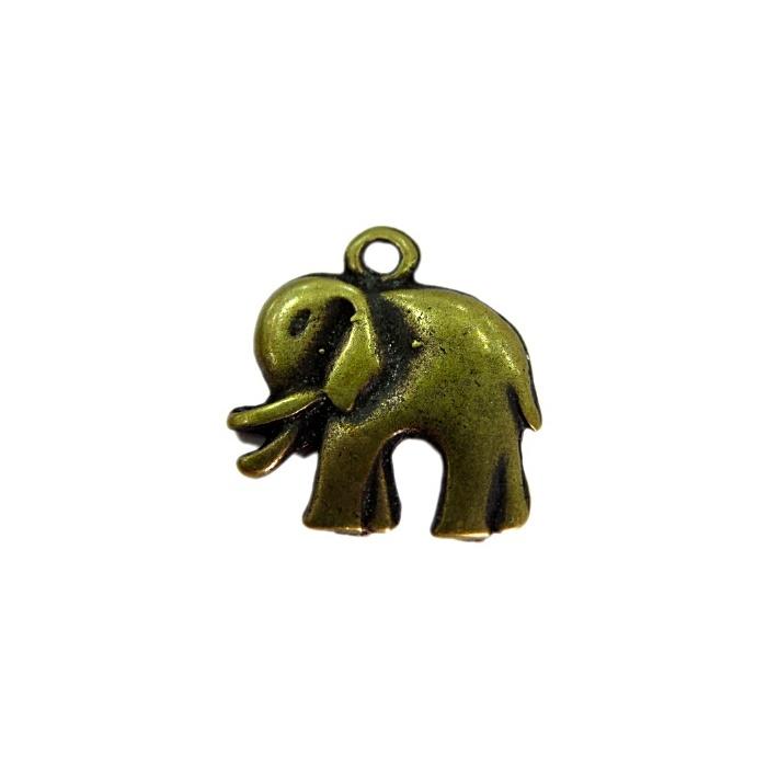 Pingente Elefante médio ouro velho (10 unidades)- PTO049
