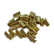 Terminal de garrinha dourado 13mm (1.000 unid.)-TGD003 ATACADO