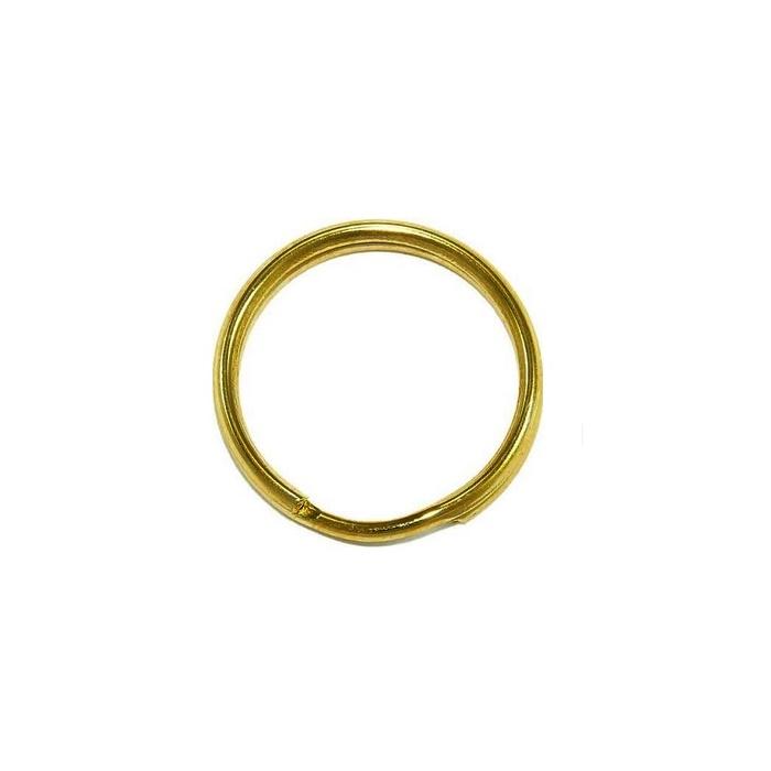 Argola de chaveiro lisa dourada s/ corrente (100 unidades)- ARD002 ATACADO