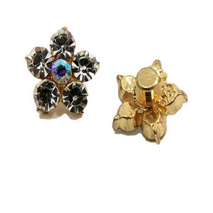 Piercing Flor I dourada (Par)- PID013