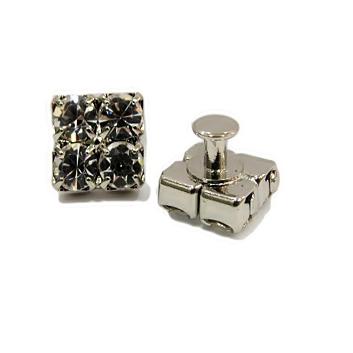 Piercing Quadradinho níquel (Par)- PIN022