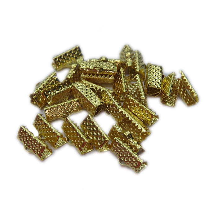 Terminal de garrinha dourado 10mm (20 unid.) -TGD002