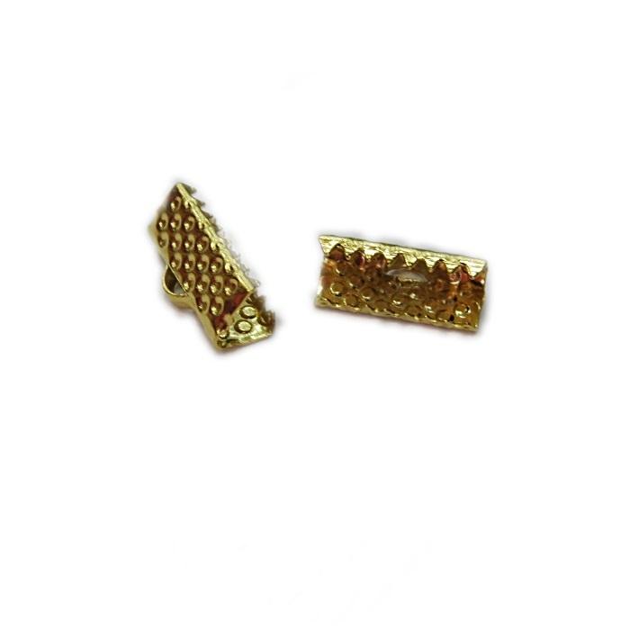 Terminal de garrinha dourado 13mm (20 unid.)- TGD003