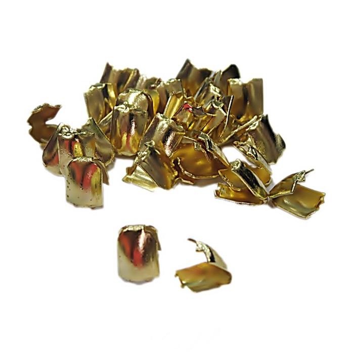Ponteira de amassar dourada P (30 unid.)- PCD004