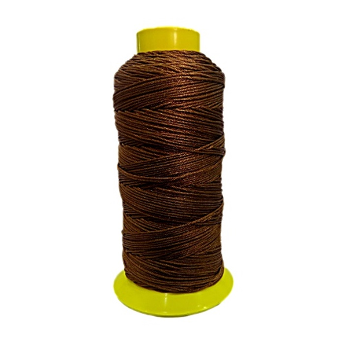 Cordão de seda fino marrom (10mts)- FS013