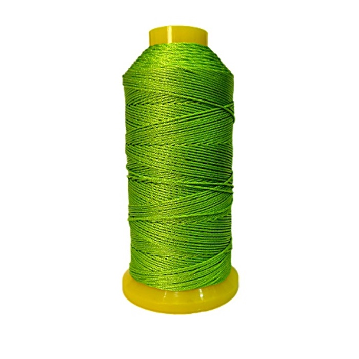 Cordão de seda fino verde pistache (10mts)- FS014