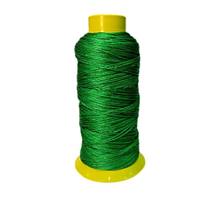 Cordão de seda fino verde- FS014 ATACADO