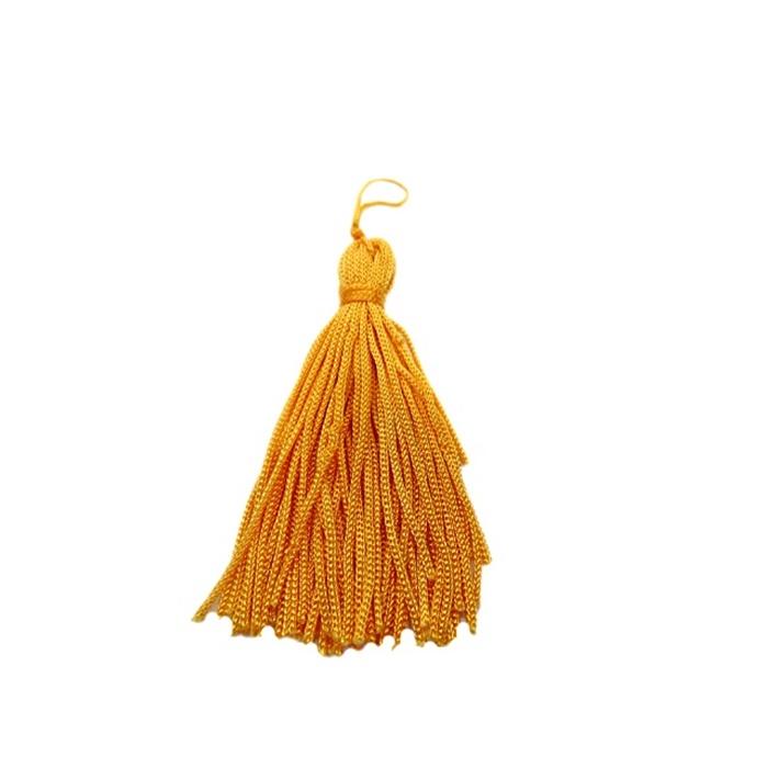 Pingente de seda amarelo escuro (10 unid.)- FRAN010