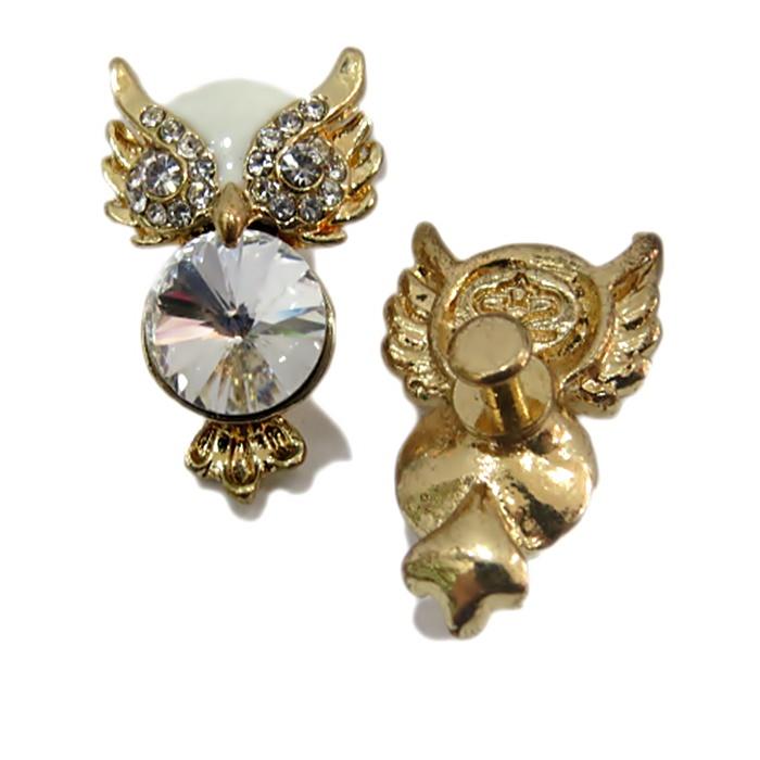 Piercing Coruja II dourada (Par)- PID009