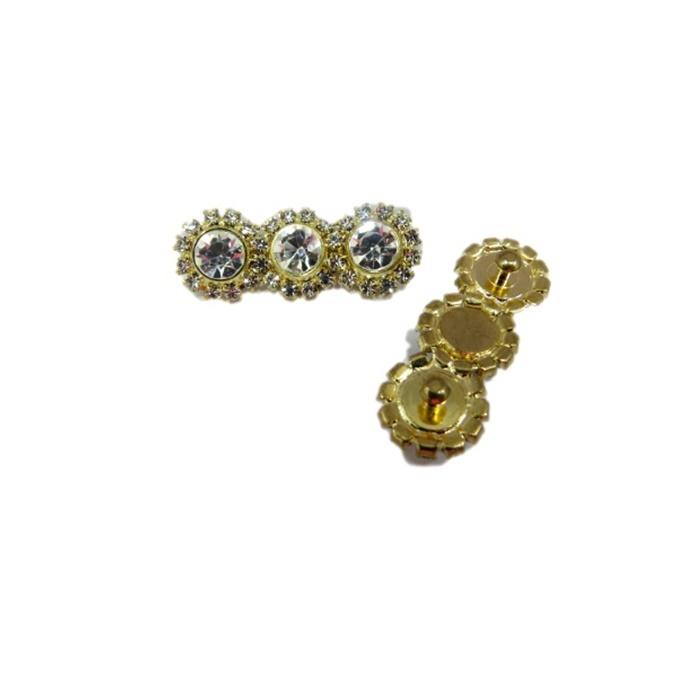 Piercing Triplo dourado (Par)- PID060