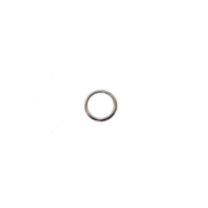 Argola de metal níquel 2,5cm (10 unidades)- AM002