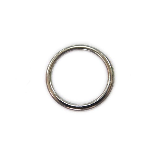 Argola de metal níquel 3,5cm (10 unidades)- AM005