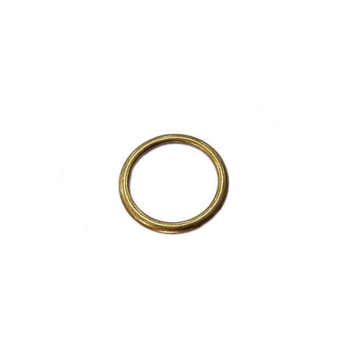 Argola de metal ouro velho 4cm (100 unidades)- AV004 ATACADO