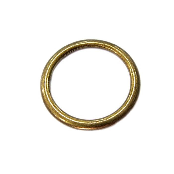 Argola de metal ouro velho 3,5cm (100 unidades)- AV005 ATACADO
