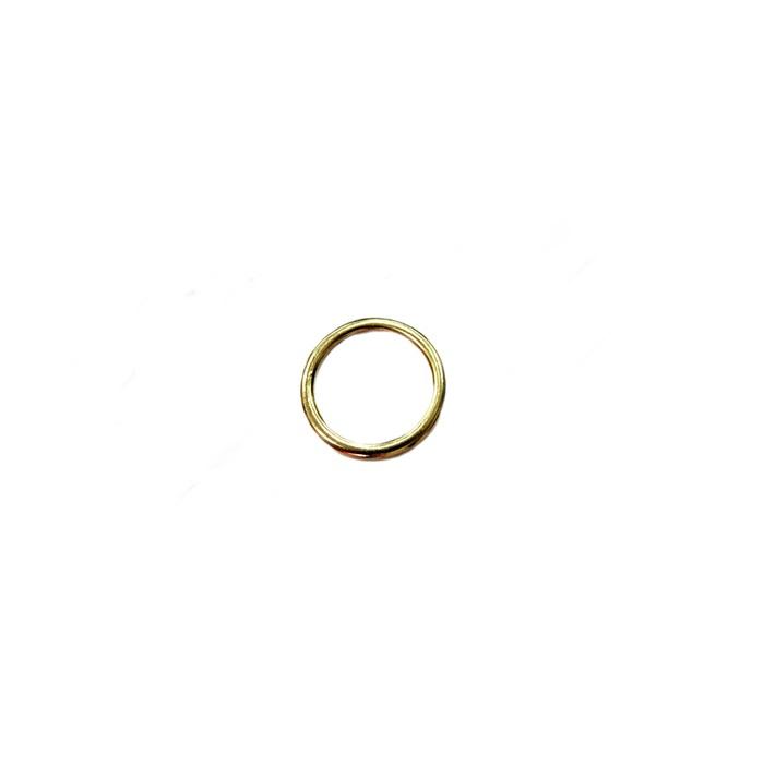 Argola de metal dourada 2,5cm (10 unidades)- AD002