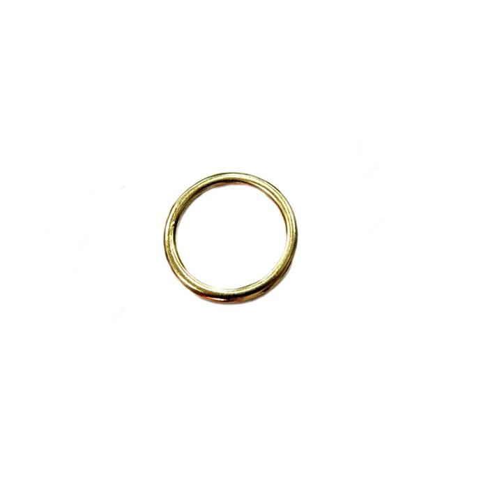 Argola de metal dourada 3cm (10 unidades)- AD003