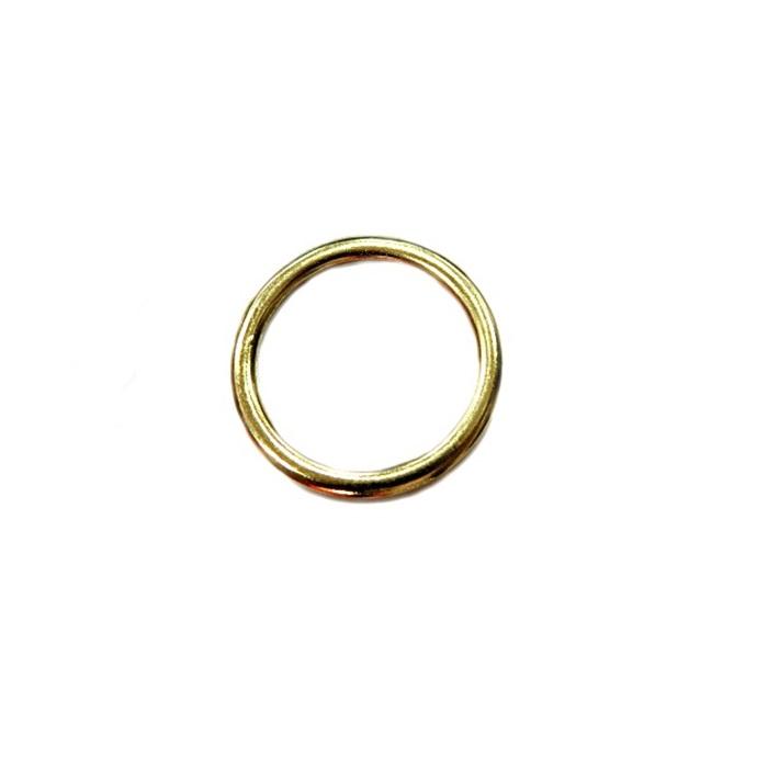 Argola de metal dourada 3,5cm (10 unidades)- AD004
