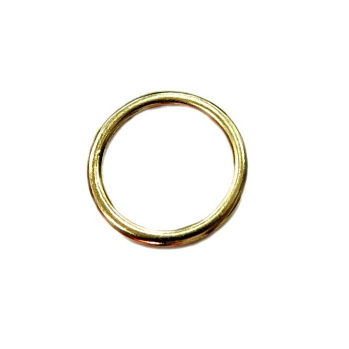 Argola de metal dourada 4,5cm (5 unidades)- AD005