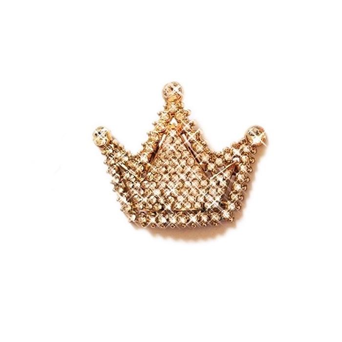 Entremeio com garra dourado coroa grande de strass- EG017