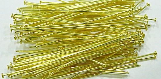 Alfinete latão Dourado Nº 20mm/ Nº 30mm ou Nº 50mm (25 gramas)- AFLD002