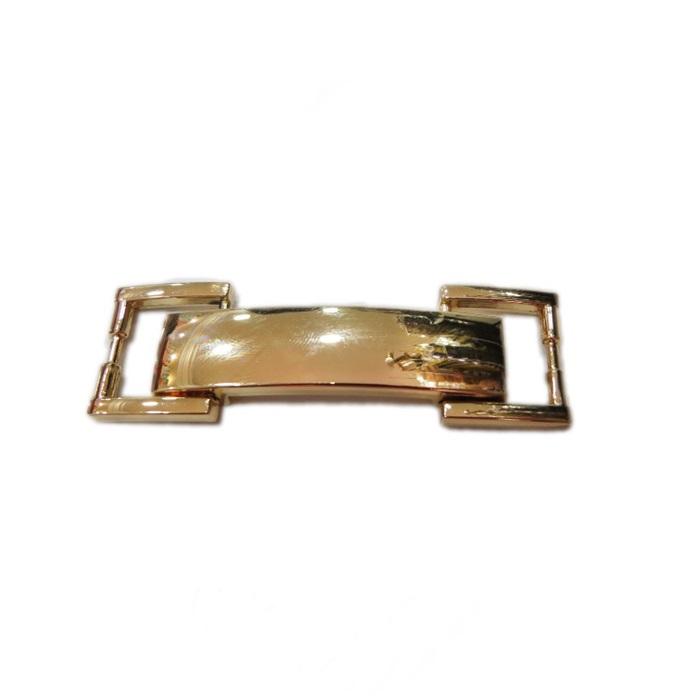 Entremeio retangular dourado- EC016