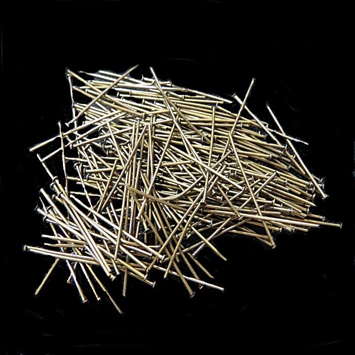 Alfinete ferro ouro velho Nº 20mm/ Nº 30mm ou Nº 50mm (500 gramas)- AFFO001 ATACADO