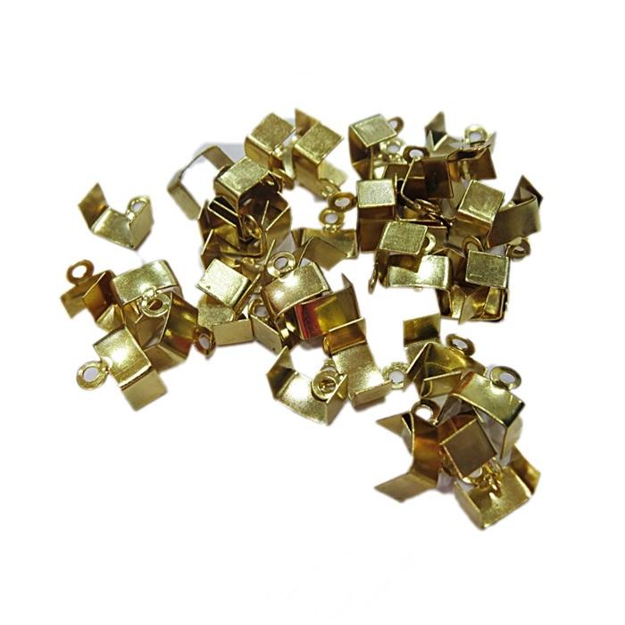 Terminal de amassar c/ saida dourado-1,0 cm largura-(1.000 unid.)- TAD008 ATACADO
