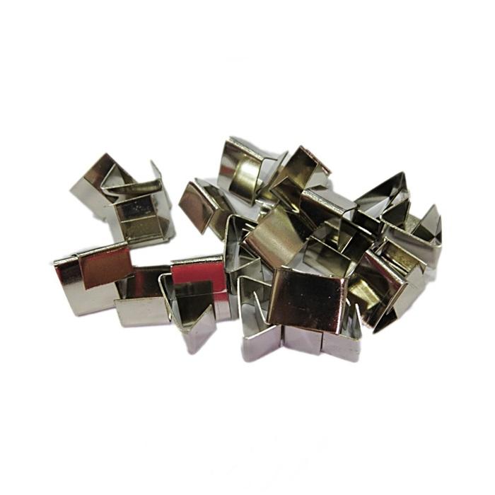 Terminal de amassar de chinelo níquel (20 unid.)- TAN010