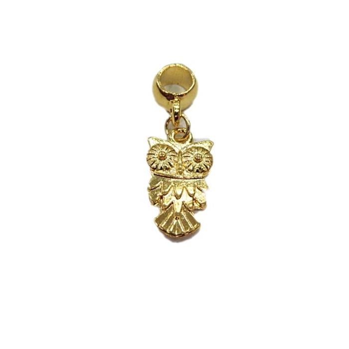 Berloque Dourado Coruja G BED028