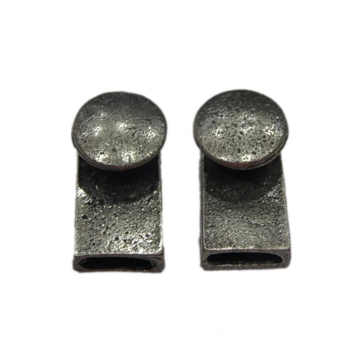 Fecho níquel envelhecido botão (02 unid.)- FBNE001