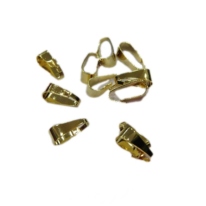 Charneira dourada lisa (30 unid.)- CHAD002